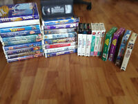 Box of 28 children's VHS tapes