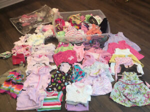 Baby girls assortment of cloths 3-6 months and 6-12 months