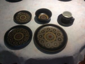 "SET OF 8 DINNERWARE:    DENBY ""ARABESQUE"""