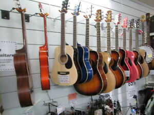 *70* starter guitars now in stock, various sizes/styles/finishes
