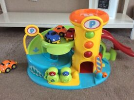 ELC TOY GARAGE WITH 4 CARS