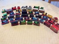 Large amount of Thomas the tank die cast trains track and buildings