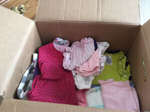 A Box of baby girl clothing,size 3months.
