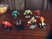 7 Disney Infinity characters PS3