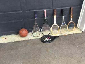 Tennis rackets, Squash racket, NBA basketball for sale