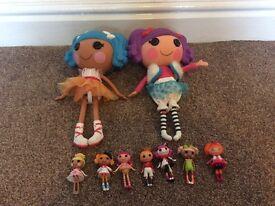 Job Lot la la loopsy dolls, large & small
