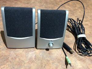 USB WIRED COMP SPEAKERS,DIAMOND AUDIO TEC MODEL GEM2.0-USB