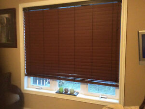 Blinds, faux Wooden