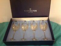 DARTINGTON CRYSTAL Wine Goblets 4 Pack