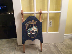 Wood hand painted Christmas sled