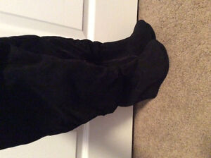 NEW Black Faux Suede Platform Boot -7.5