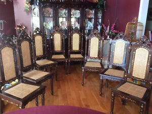 DINING TABLE AND  8 CANE BACK CHAIRS Kawartha Lakes Peterborough Area image 3