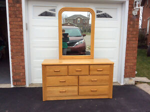 Dresser and mirror, with matching twin size headboard