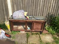 Rabbit hutch [plastic one and wooden]