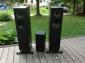 Nuance advantage speakers and subwoofer