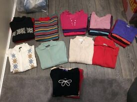 Ladies clothing - 26 knitwear items size 12/14 - some never worn.
