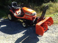 KUBOTA/ TG1860G /VTWIN/POWER STEERING/BLOWER/MOWER