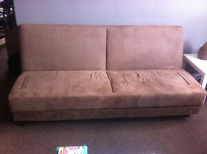Lightly used fold-down futon couch w storage underneath