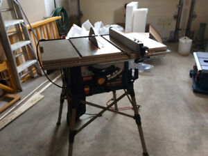 10in Portable Ryobi Table Saw with Quickstand
