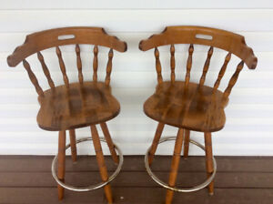 Solid Wood Kitchen Swivel Stools, Countertop Height Chairs