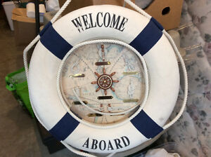 WELCOME ABOARD LIFE RING decor