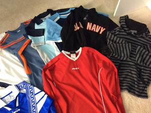 Size small and medium sporty shirts and sweaters REDUCED