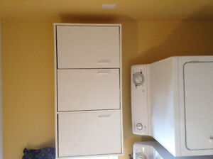 White laundry wall-mounted cabinet