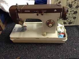JONES Vintage sewing machine, needs attention good restoration project.