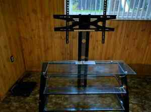 Z-Line Glass  TV stand with mount