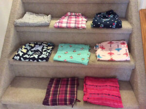 GIRLS PAJAMA PANT BUNDLE (Size 10-14 $10)