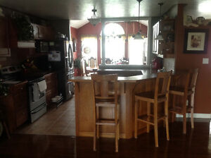MINT CONDITION MAPLE KITCHEN CABINETS AND COUNTERTOP FOR SALE