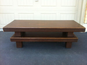 "Retro Coffee Table... Hand Built In The 1970's ""Solid Wood"" $40"