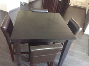 Pub style table and chairs Cambridge Kitchener Area image 3