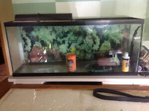 55 gallon aquarium and stand