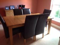 Dining room table and 6 chairs for sale