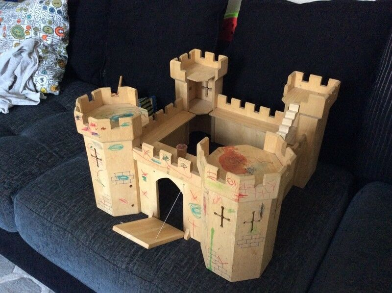 Large Wooden toy castle