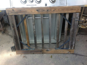 """WOOD GATE 39""""W X 31""""H INCLUDING HARDWARE"""