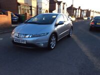 2008 Honda Civic Executive 2.2 I-CTDI Diesel 5dr hatchback manual 6 Speed full history £2350