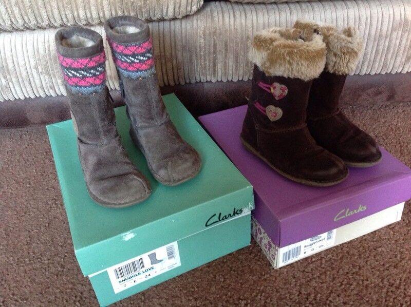 Girls winter boots from Clarks 7E 8G
