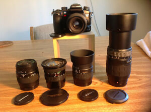 Minolta 7D with 5 lenses