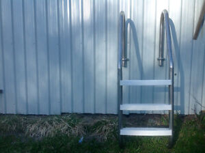 stainless steel in ground pool ladder