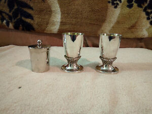 Silver Gobblets & Stainless Steel Jewish Memorial Candle Holder West Island Greater Montréal image 1