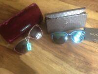 Designer sunglasses Gucci, Dolce & Gabbana