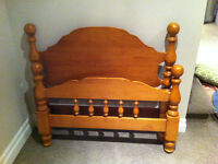Roxton Solid Maple bed -Twin headboard, footboard with frame