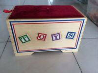 Melissa and Doug toy box with toys