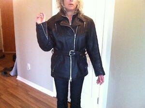 manteau cuir noir femme moto