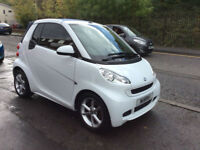 SMART FORTWO PULSE MHD AUTO CONVERTIBLE 27,000 MILES FSH ZERO ROAD TAX 2011-61