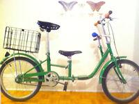 vélo enfant parent tandem pliable