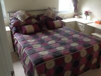 Bed & Complete Bed Set with matching curtains