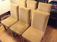 Set of 6 Parson chairs in micro fiber
